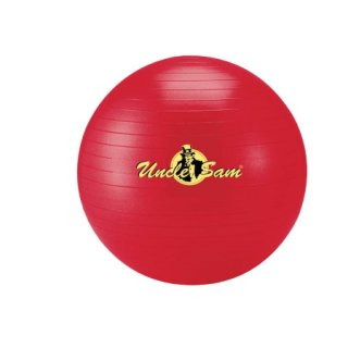 Lager Uncle Sam Gymnastikball 65 cm rot