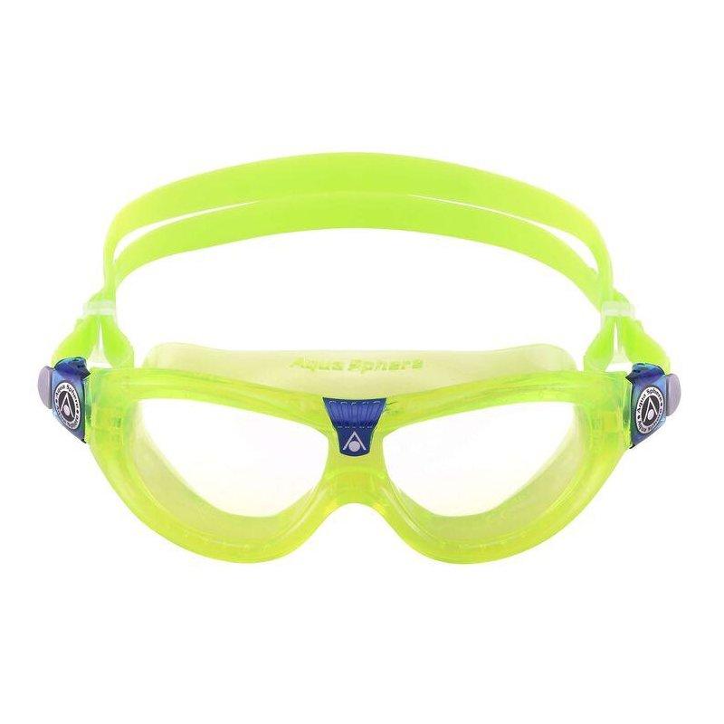 transparentes Glas für Kinder Aqua Sphere Schwimmbrille Kameleon Kid pink-weiss