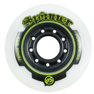 Powerslide Inliner Ersatzrollen Wheels Spinner, weiss, 84mm, 4 Stück