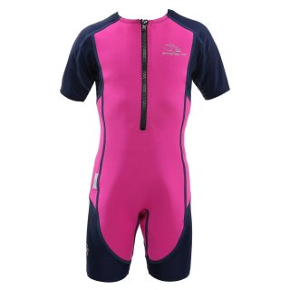 Aqua Sphere Stingray HP, Neopren-Schwimmanzug Kids pink-blau
