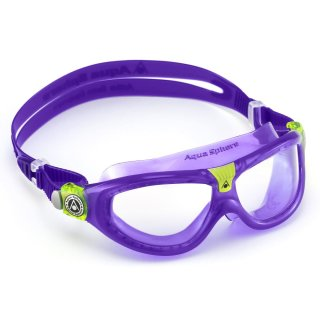 Aqua Sphere Seal Kid 2 violet Schwimmbrille für Kinder, transparentes Glas