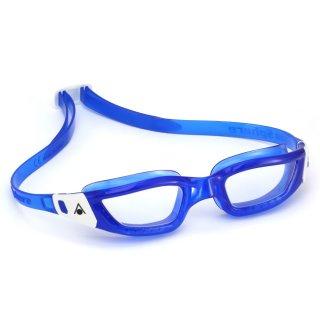 Aqua Sphere Schwimmbrille Kameleon blau-weiss, transparentes Glas, Herren