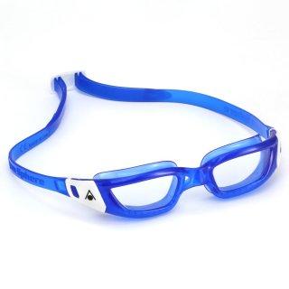 Aqua Sphere Schwimmbrille Kameleon jun. blau-weiss, transparentes Glas, für Jugendliche