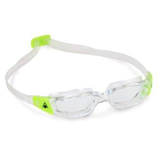 Aqua Sphere Schwimmbrille Kameleon jun. transparent-grün, transparentes Glas, für Jugendliche