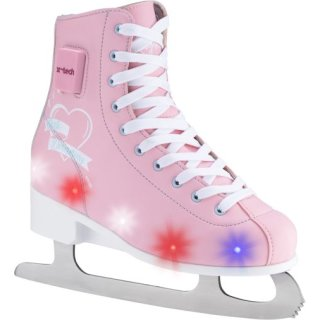 X-Tech Schlittschuhe Kinder Ice Skates Dreaming LED verstellbar, pink