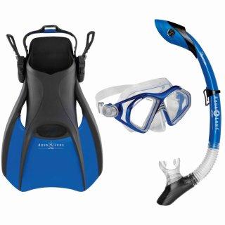 Aqua Lung Schnorchelset Trooper   3 Größen 36-40 / 40-44 / 44-48   Maske + Schnorchel Pivot Dry + Flossen   Damen   Herren   verstellbar