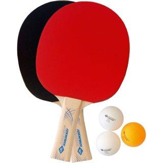 Donic Schildkröt Tischtennisset  2-Player Set Level 300 | 2 Schläger| 3 Bälle