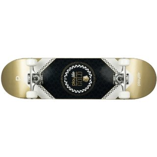 Playlife Skateboard Heavy Metal Gold, ABEC 9