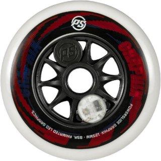 Powerslide Ersatzrolle Graphix LED Wheel rot 125 mm