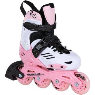 Powerslide Kinder Inliner | Freeskating Skates | Khaan Junior LTD Pink | Größen 27-38